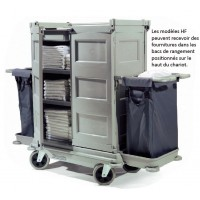 NKT22HF - chariot hôtelier grand volume 2 portes