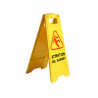 Panneau jaune sol glissant 60cm