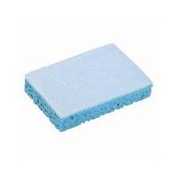 Tampon abrasif blanc sur éponge bleue - paquet 10