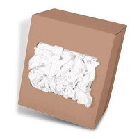 Drap blanc polycoton - carton 10kg