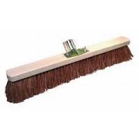 Balai coco 60cm monture bois douille métal