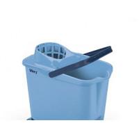 Seau rectangulaire MERY 14L avec essoreur bleu