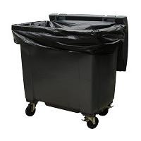 Housse 750 L XTRA PEBD noir - carton 50