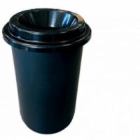 Poubelle plastique noir 50L DONUTS