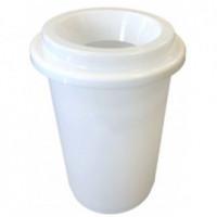Poubelle plastique blanche 50L DONUTS