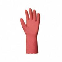 Gant de ménage latex rose - 12 paires