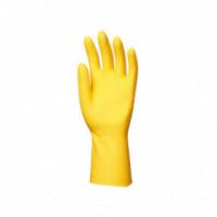 Gant de ménage latex jaune - 12 paires
