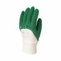 Gant enduit latex crêpé vert - 12 paires