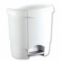 Poubelle plastique blanc 4L à pédale